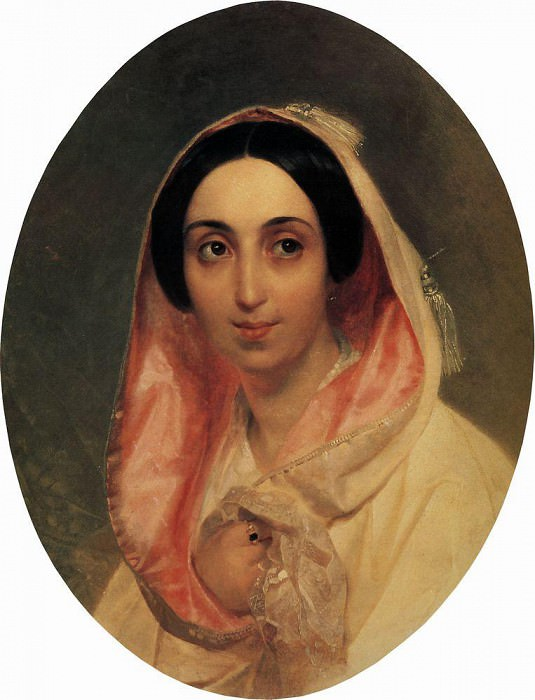 Portrait of Princess AA Bagration. 1849. Karl Pavlovich Bryullov