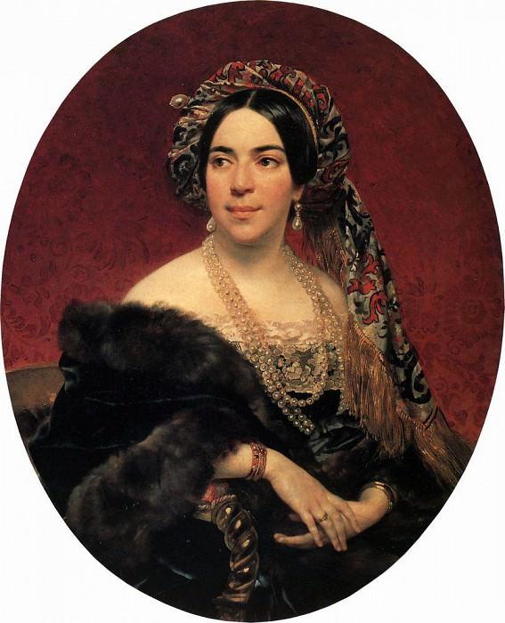 Portrait of Prince. Z. Volkonskaya. Not later than 1842. Karl Pavlovich Bryullov