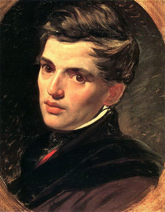 Portrait of the architect A. Briullov, brother of the artist. 1823-1827. Karl Pavlovich Bryullov