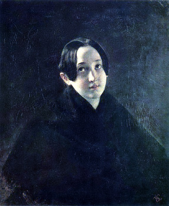 Portrait of EI Durnova, wife of the artist Ivan T. Durnova. 1836. Karl Pavlovich Bryullov