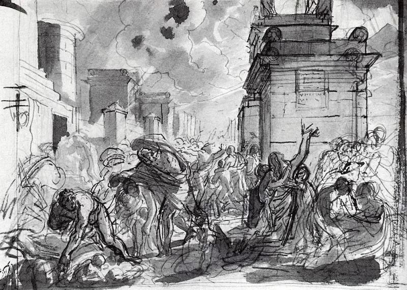 Last Days of Pompeii 2. 1827-1830. Karl Pavlovich Bryullov