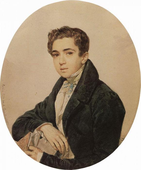 Portrait of Prince. G. Gagarin. 1829. Karl Pavlovich Bryullov