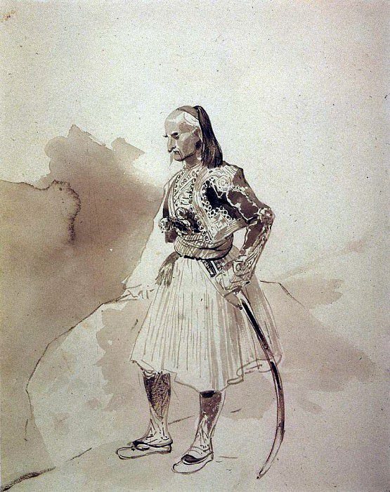 Портрет греческого инсургента Теодора Колокотрони. 1835. Карл Павлович Брюллов