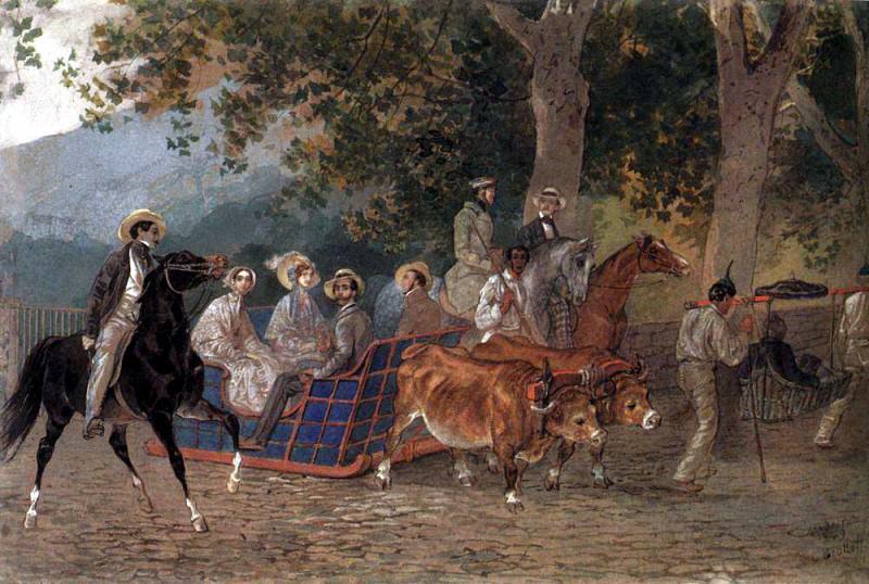 Walk. 1849. Karl Pavlovich Bryullov
