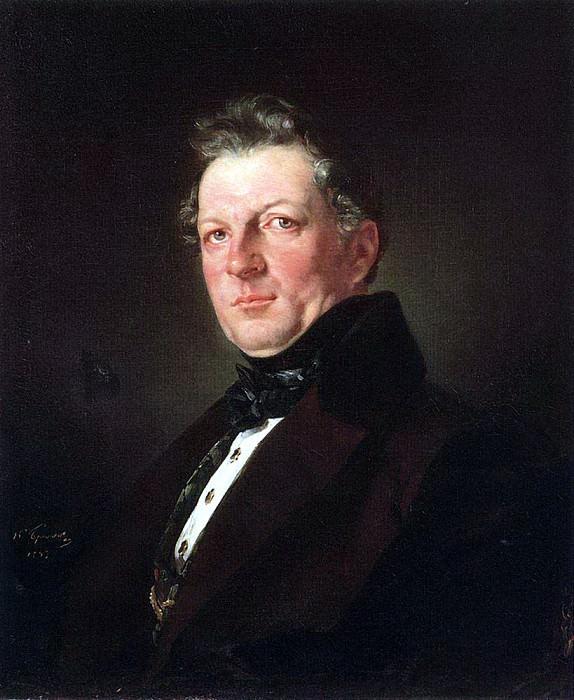 Портрет архитектора А. М. Болотова. 1843. Карл Павлович Брюллов