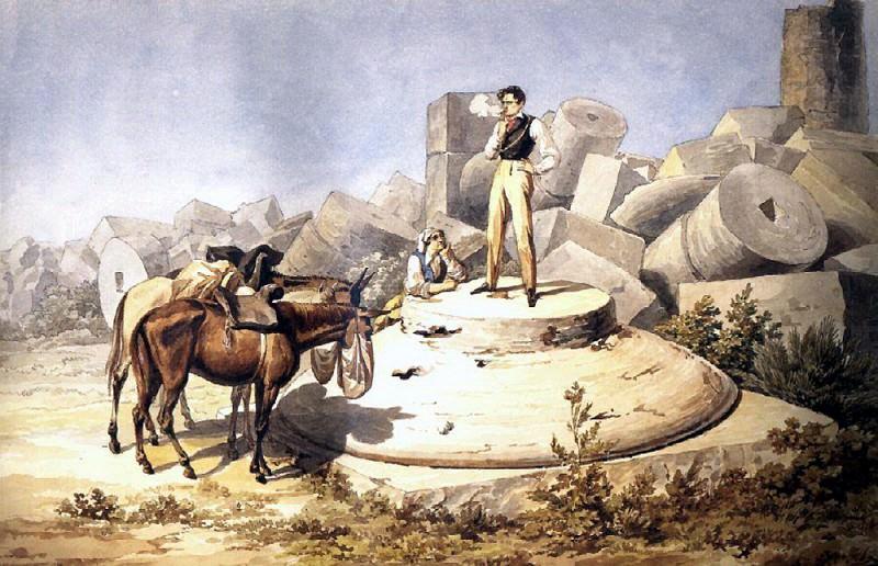 Portrait VA Perovskii on the column capitals. 1824. Karl Pavlovich Bryullov
