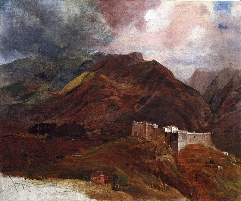 View of Fort Pico on Madeira Island. Karl Pavlovich Bryullov