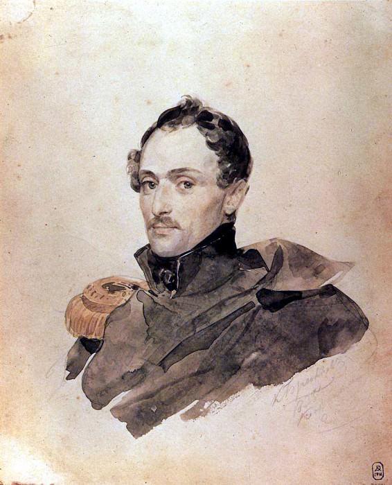 Portrait of Captain A. Kostinitsa. 1,835. Karl Pavlovich Bryullov