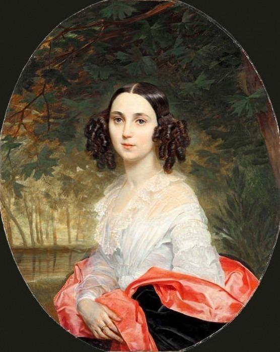 Portrait of Maria Alekseeva. Karl Pavlovich Bryullov