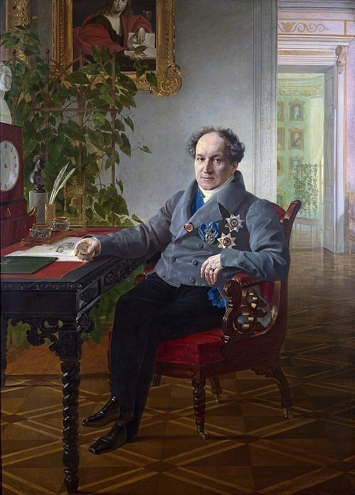 Portrait of a member of the State Council, Prince A.N. Golitsyn. Karl Pavlovich Bryullov