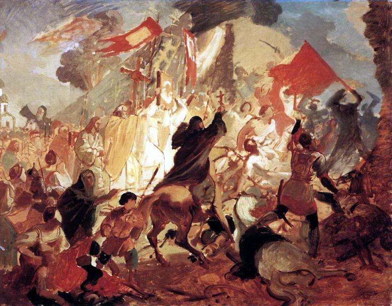 Siege of Pskov Polish King Stephen Bathory in 1581. 1836 -1837. Karl Pavlovich Bryullov