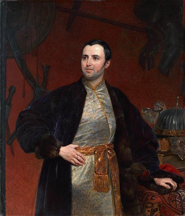 Portrait of Prince Mikhail A. Obolensky.. Karl Pavlovich Bryullov
