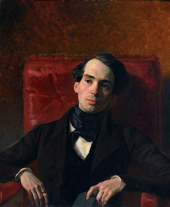 Портрет писателя Александра Николаевича Струговщикова (1808-1878). Карл Павлович Брюллов