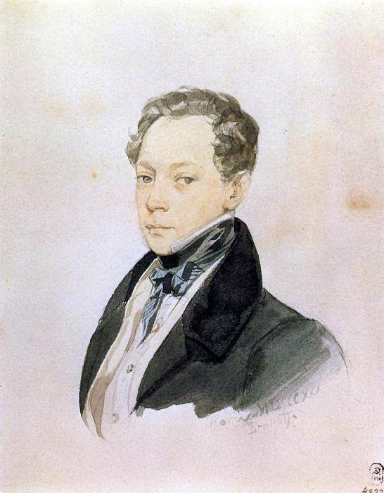 Портрет П. В. Басина. 1830. Карл Павлович Брюллов