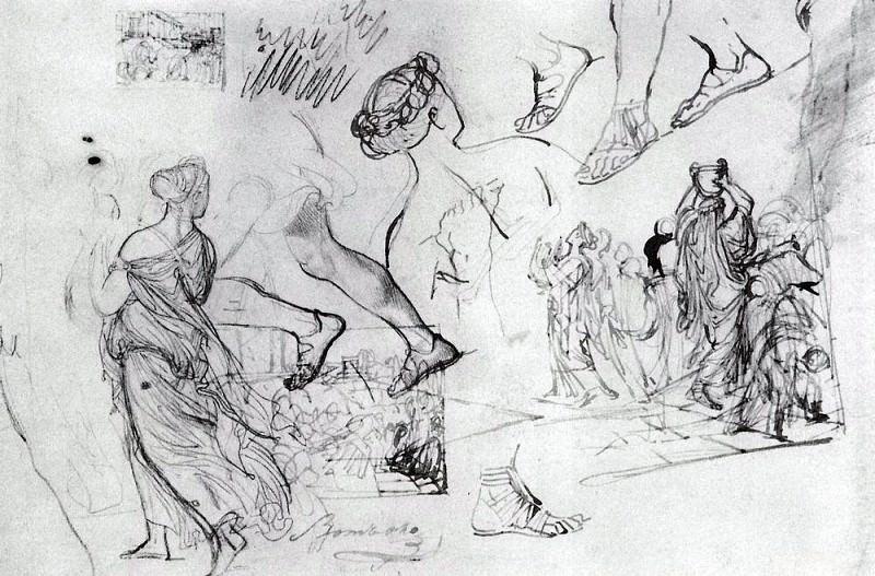 Kleobis and Beaton. 1823-1827. Karl Pavlovich Bryullov