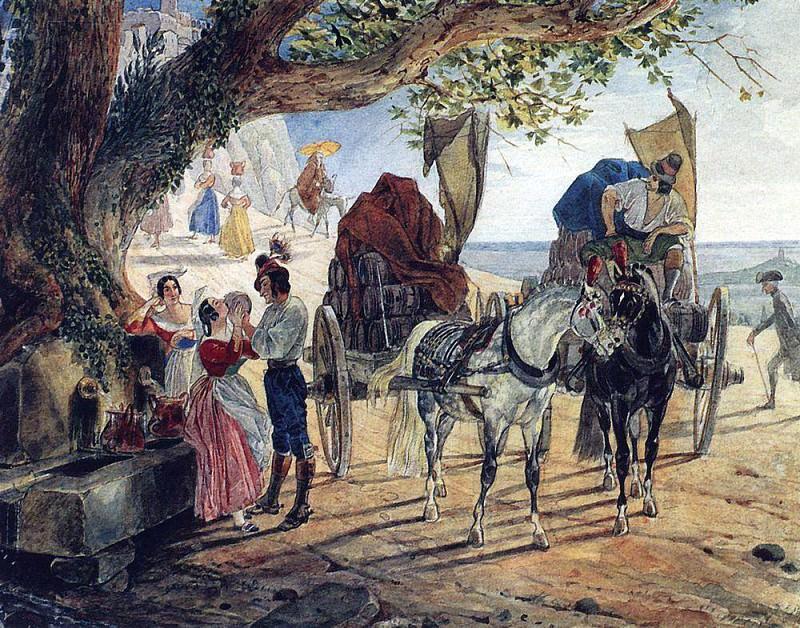 Fair in Albano. 1830-1833. Karl Pavlovich Bryullov