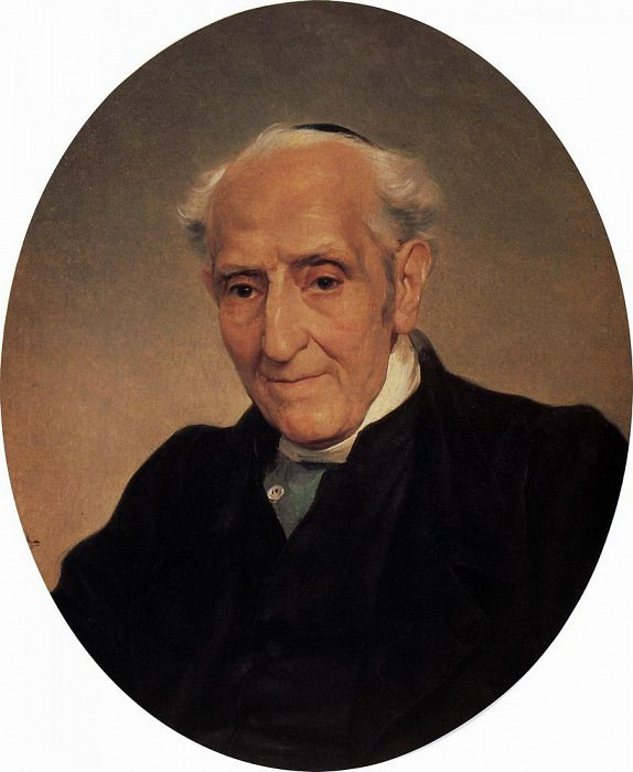 Portrait of the writer and political activist Archbishop Giuseppe Taranto Kapechalatro. 1833-1835. Karl Pavlovich Bryullov