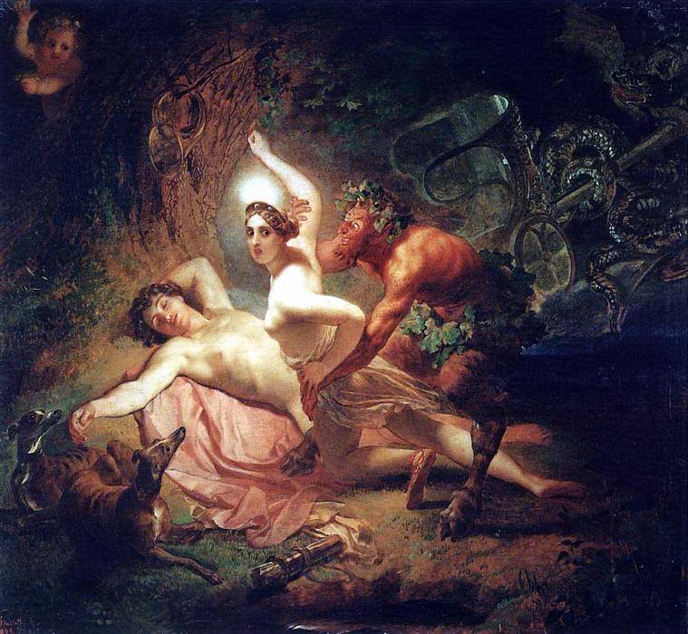 Diana, Endymion and satire. 1849. Karl Pavlovich Bryullov