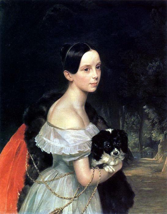Portrait of William M. Smirnova. 1837-1840. Karl Pavlovich Bryullov