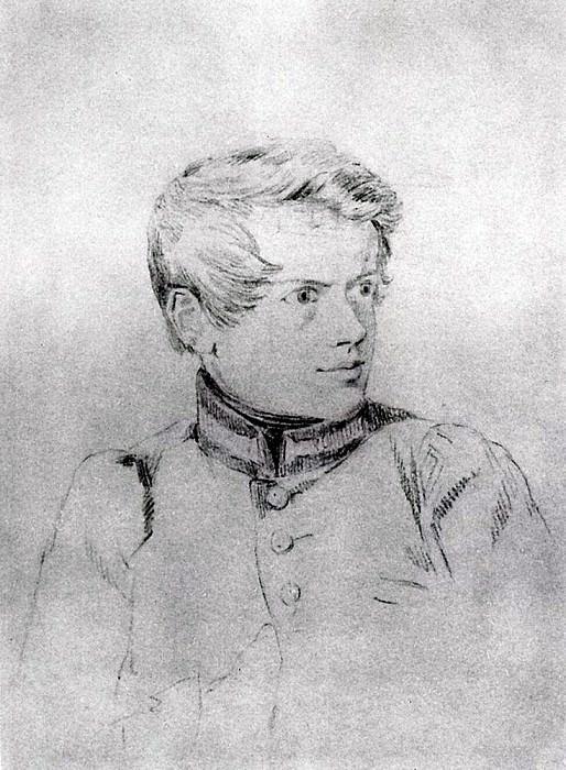 Self-portrait. 1813-1816. Karl Pavlovich Bryullov