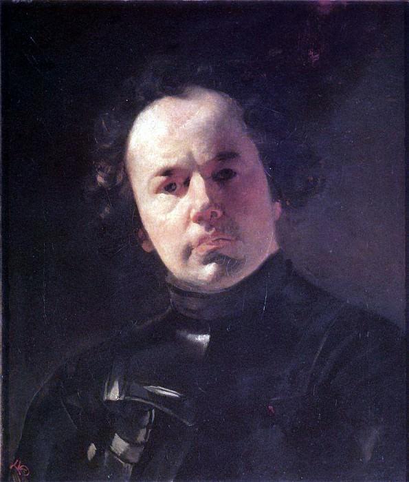 Portrait of the artist J. F. Yanenko in armor. 1841. Karl Pavlovich Bryullov