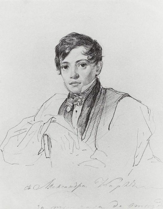 Portrait of Briullov. 1826. Karl Pavlovich Bryullov