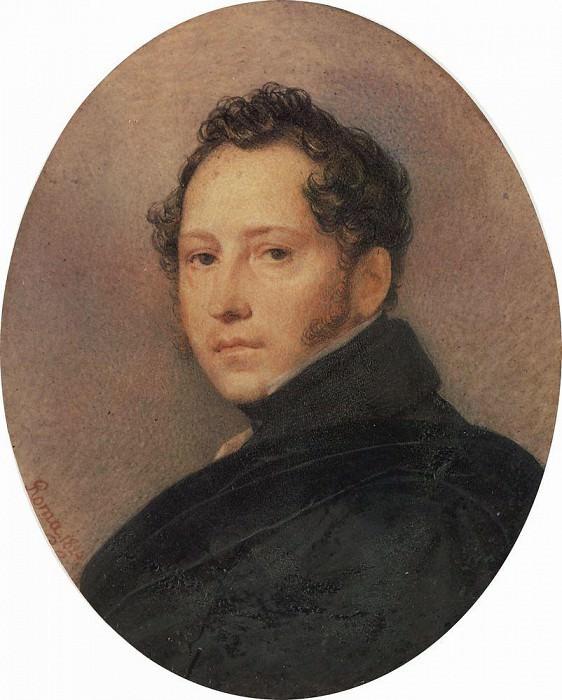 Portrait SF Shchedrin. 1824. Karl Pavlovich Bryullov