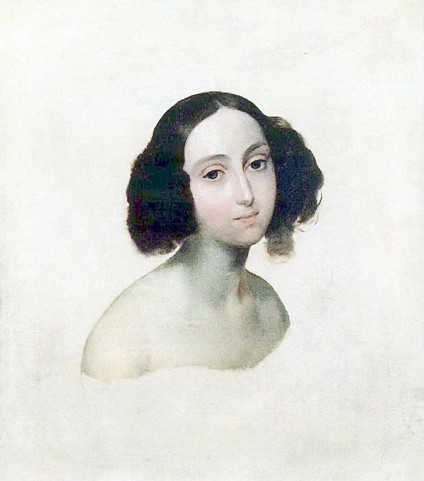 Portrait of Grand Duchess Olga Nikolaevna. 1841. Karl Pavlovich Bryullov