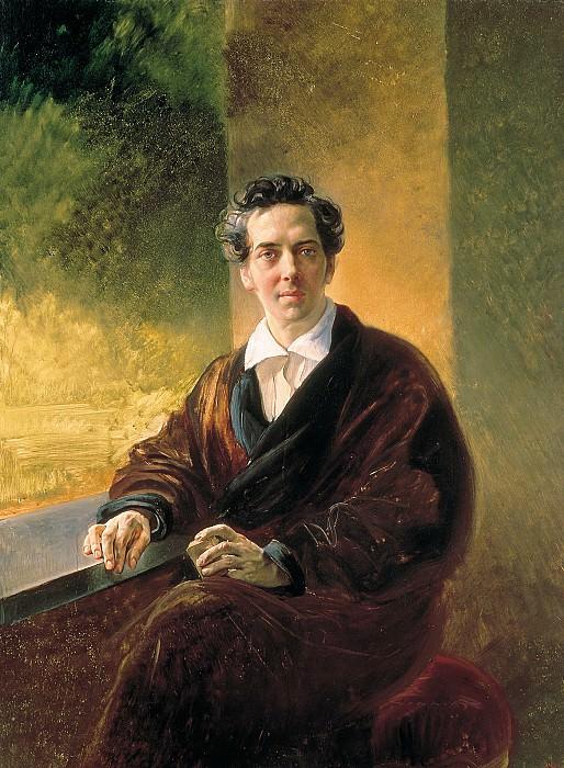 Portrait gr. Aleksei Alekseevich Perovskii (writer Anton Pogorelsky).. Karl Pavlovich Bryullov