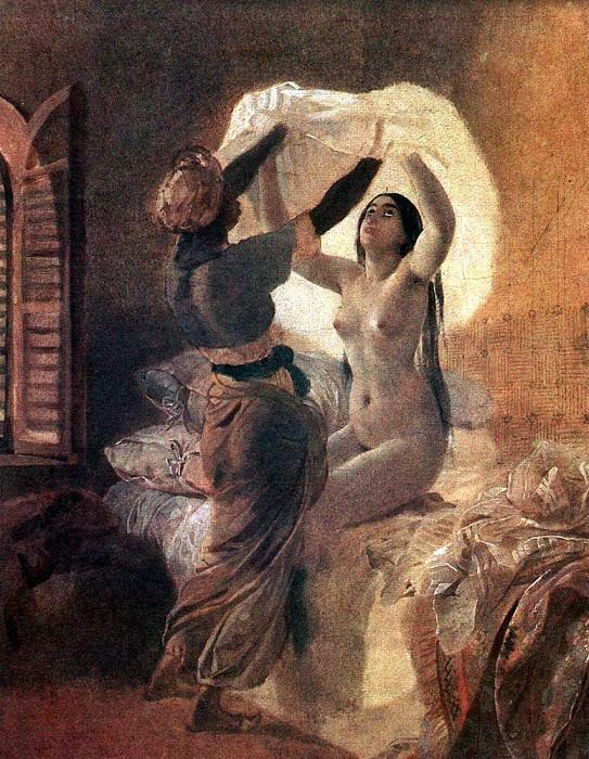 Odalisque. 1823-1835. Karl Pavlovich Bryullov