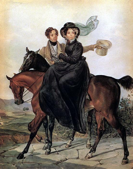 Portrait of KA and M. Ya Naryshkins. 1827. Karl Pavlovich Bryullov