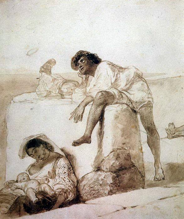 At noon. 1851-1852. Karl Pavlovich Bryullov