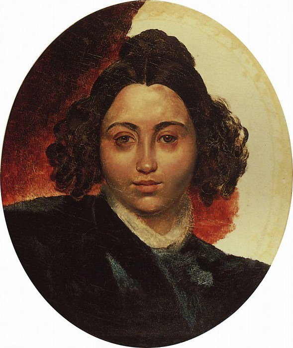 Portrait of Baroness II Klodt, wife of sculptor PK Klodt. Around 1839. Karl Pavlovich Bryullov