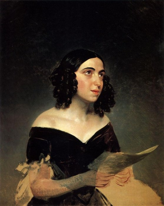 Portrait of the Singer AY Petrova. 1841. Karl Pavlovich Bryullov