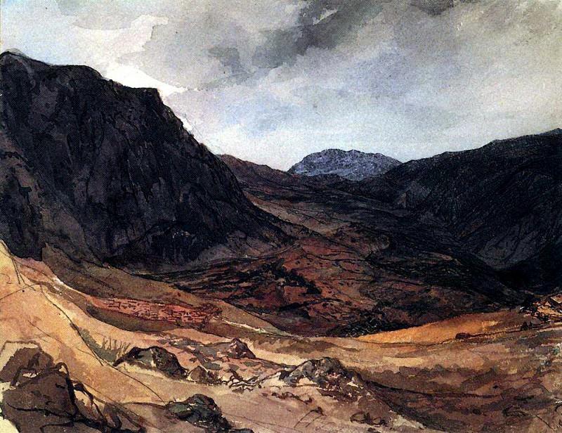 Valley Delphic. 1,835. Karl Pavlovich Bryullov