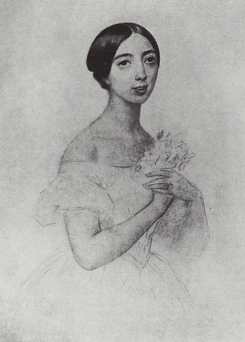 Portrait of the singer Pauline Viardot Garcia. 1844. Karl Pavlovich Bryullov