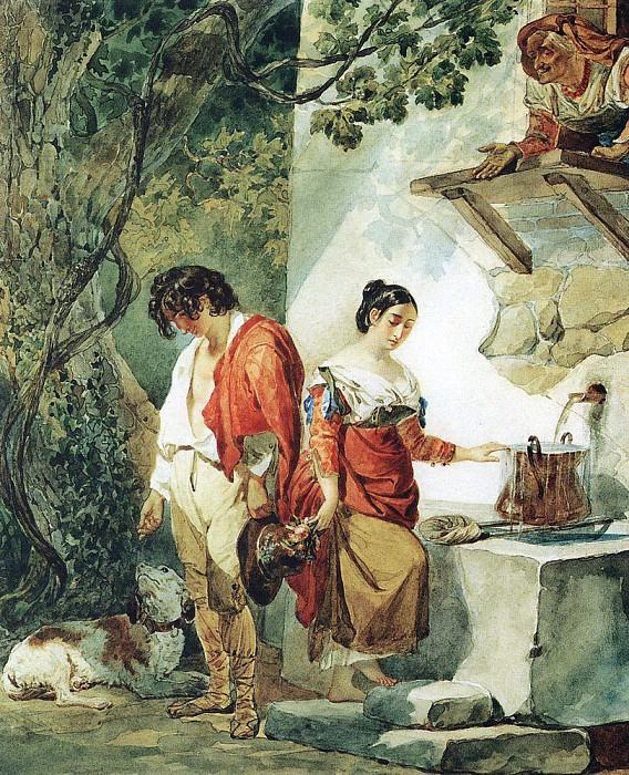 Interrupted date (Water runs through too). End 1820. Karl Pavlovich Bryullov