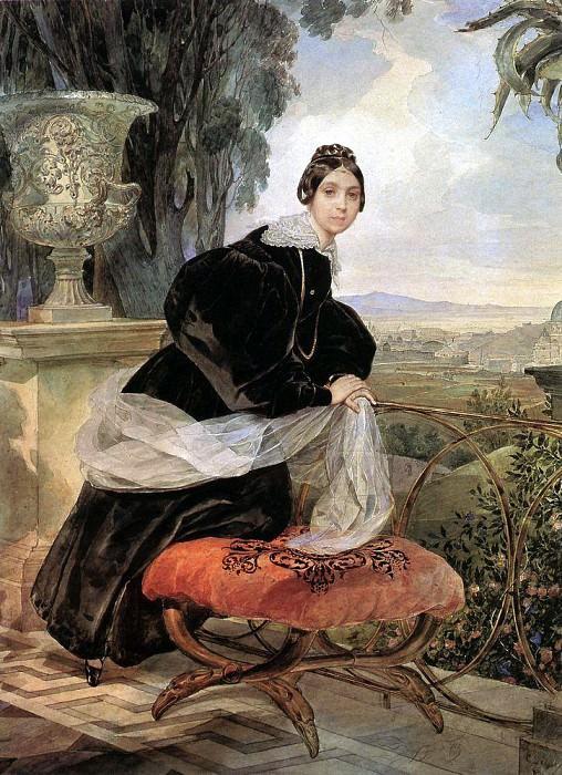 Portrait of Princess EP Saltykov. 1833-1835. Karl Pavlovich Bryullov