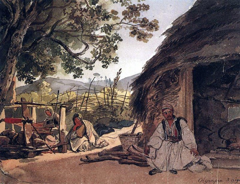 Greek morning in Miraka. 1,835. Karl Pavlovich Bryullov