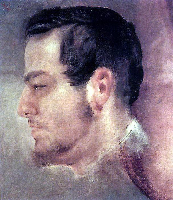 Profile head Glinka. 1843-1847. Karl Pavlovich Bryullov