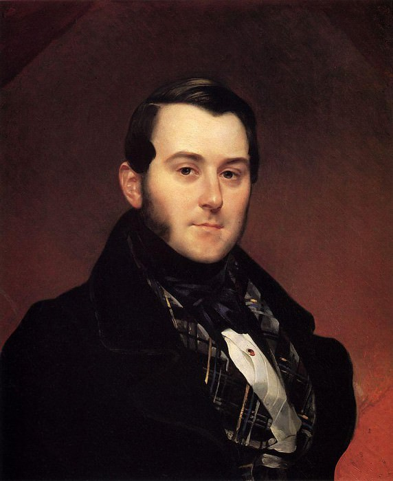 Portrait IA Beck. Around 1839. Karl Pavlovich Bryullov