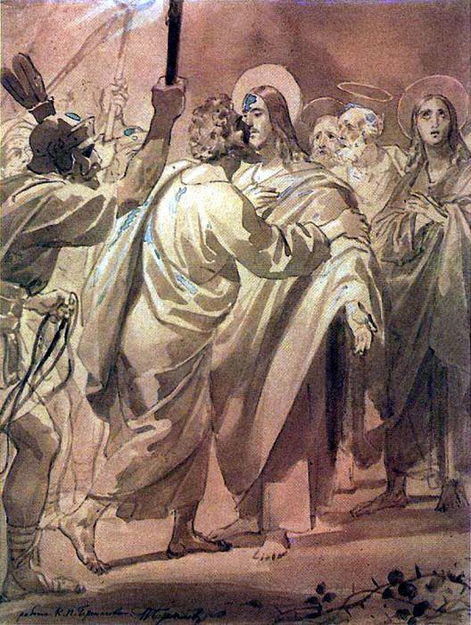 kiss of Judas. 1843-1847. Karl Pavlovich Bryullov