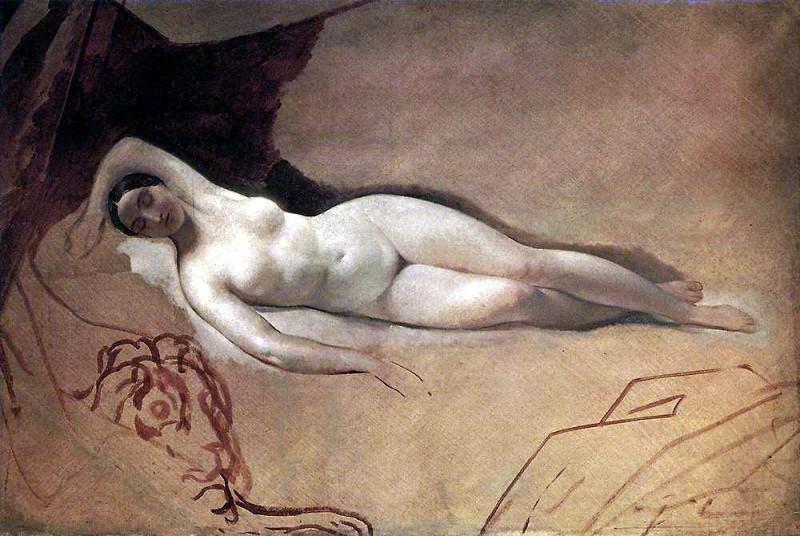 Sleeping Juno. 1840. Karl Pavlovich Bryullov