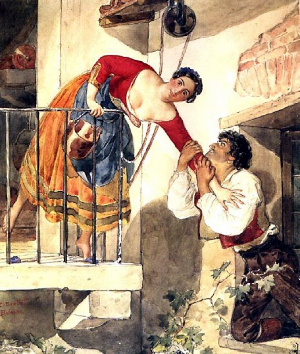 Interrupted date. 1820-e. Karl Pavlovich Bryullov