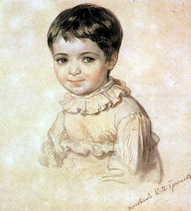 Portrait MP Kikino in childhood. 1817-1820. Karl Pavlovich Bryullov