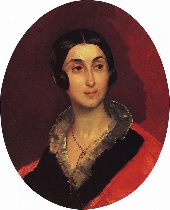 Портрет Е. И. Тон, жены художника К. А. Тона. 1837-1840. Карл Павлович Брюллов