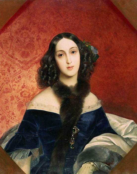 Portrait of MA Beck. 1840. Karl Pavlovich Bryullov