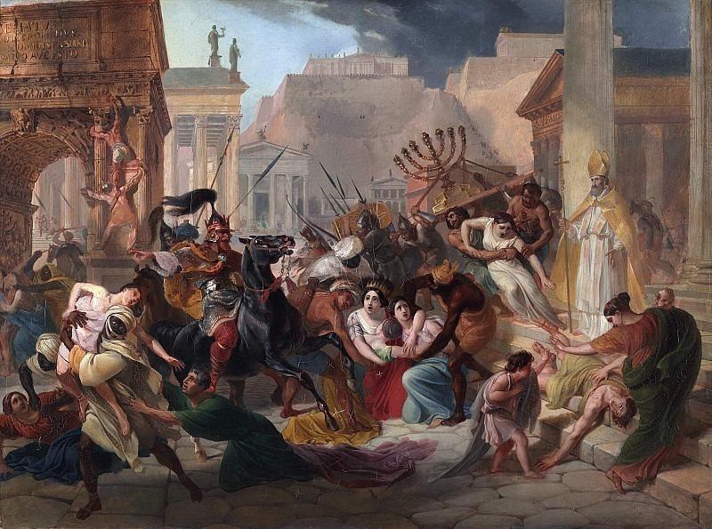 Genserich's invasion of Rome. Karl Pavlovich Bryullov