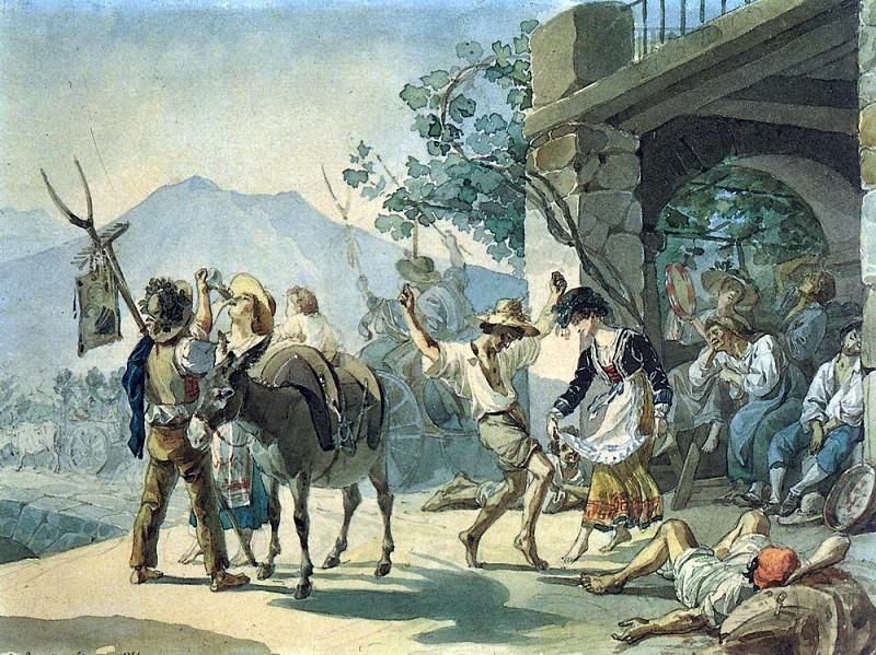 Holiday vintage. 1827. Karl Pavlovich Bryullov