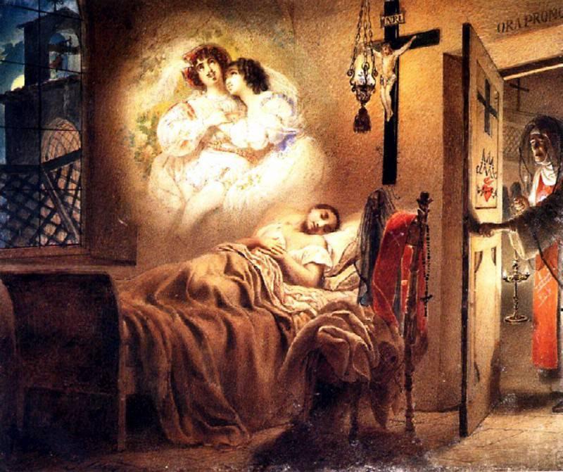 Sleep nuns. 1831. Karl Pavlovich Bryullov